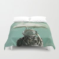 rain Duvet Covers featuring Rain by Seamless