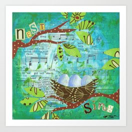 Nest and Sing Art Print