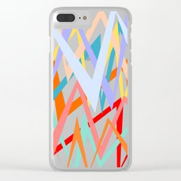 Colorful thunders Clear iPhone Case