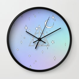 pastel deathly hallows // 2 Wall Clock
