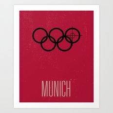 Minimal Poster - Munich Art Print