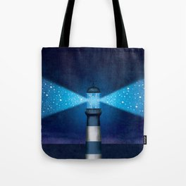 Stars Lighthouse Tote Bag