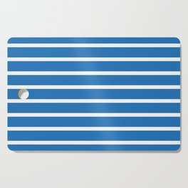 stripe bleu color and white Cutting Board