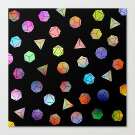 Platonic solids II Canvas Print