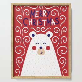 Merry Christmas Polar Bear Serving Tray