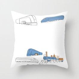 Trains Throw Pillow