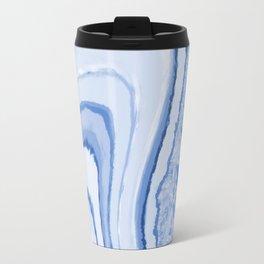 Blue Crystal Watercolor Effect Design Travel Mug