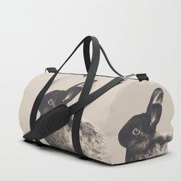Little Rabbit on Light Beige #1 #decor #art #society6 Duffle Bag