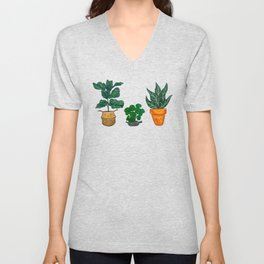Potted Plant Critters 3 Unisex V-Neck