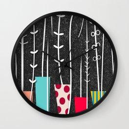 Wild Plants Wall Clock