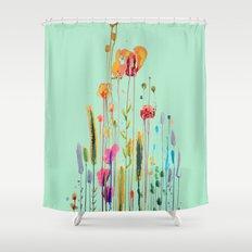 verte campagne Shower Curtain