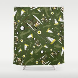 P is for Pilot Shower Curtain