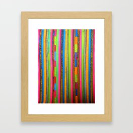 Colorful Funky Stripe Framed Art Print