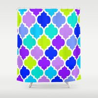 moroccan Shower Curtains featuring Moroccan  by Saundra Myles