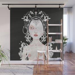 Doll portrait albino Wall Mural