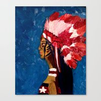 native american Canvas Prints featuring Native American by Ksuhappy