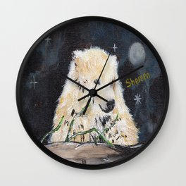 Polar Bear (night hunt) Wall Clock