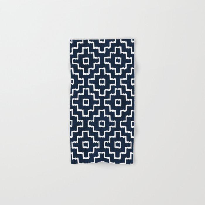 Blue Geometric Pattern Hand & Bath Towel