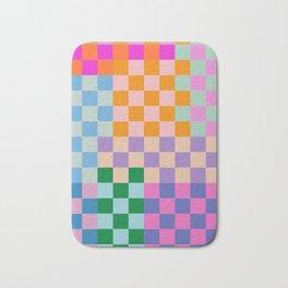 Checkerboard Collage Bath Mat