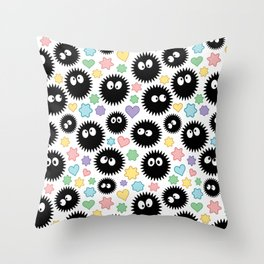 Soot Sprite Pattern Throw Pillow