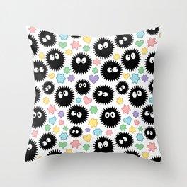 Soot Sprite Pattern Throw Pillow