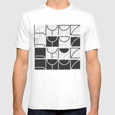 HYPE White Mens Fitted Tee SMALL