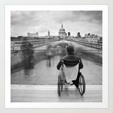Invisible, Millennium Bridge, London Art Print