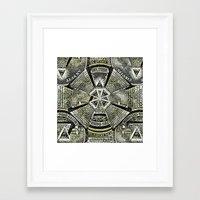 illuminati Framed Art Prints featuring Illuminati by Brandon Combs - Glitz & Grime