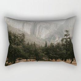 Yosemites fog Rectangular Pillow