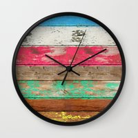 depeche mode Wall Clocks featuring Eco Fashion by Diego Tirigall
