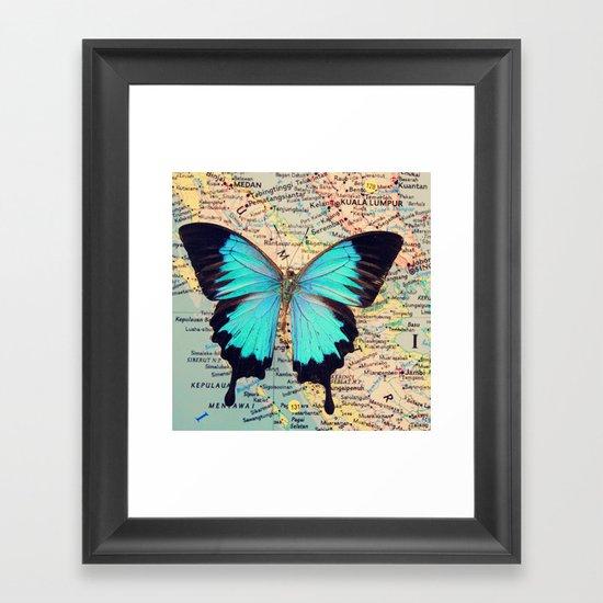 Flying home! Framed Art Print