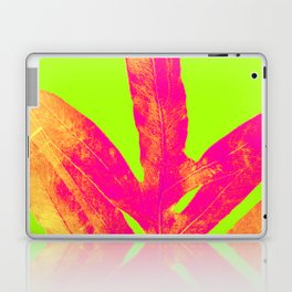 Green and Ultra Bright Coral Fern Laptop & iPad Skin