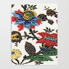 Antique Floral Vintage Pattern Design Poster