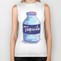 tequila Biker Tanks featuring Tequila by - OP -