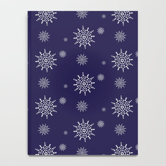 Snowflakes at Night Notebook