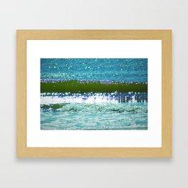 Sun Sparks at Hangars Beach Framed Art Print