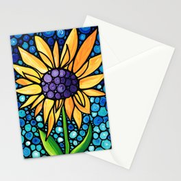 Standing Tall - Sunflower Art By Sharon Cummings Stationery Cards