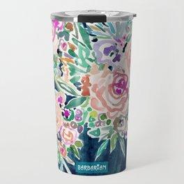 SO RICH Dark Boho Floral Travel Mug