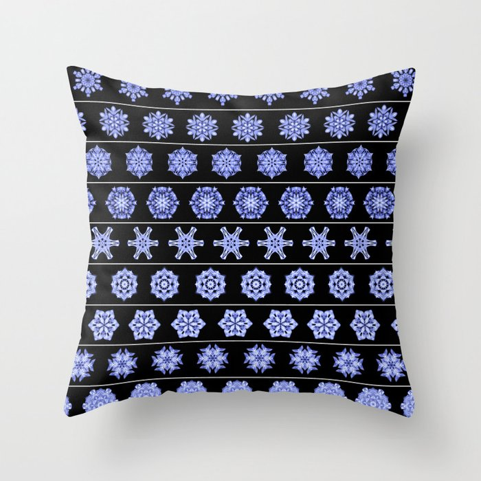 Frost in the Void 1 Throw Pillow