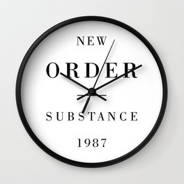 New Order Substance 1987 Wall Clock