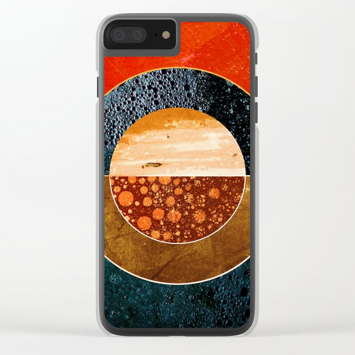 Abstract #143 Clear iPhone Case