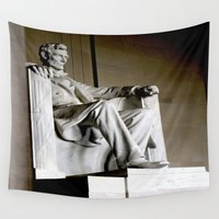 lincoln Wall Tapestries featuring Mr. Lincoln by Susy Margarita Gomez