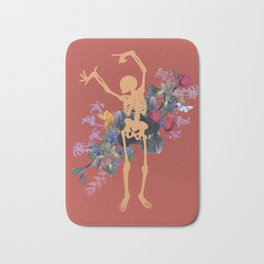Gold Orange Jungle Skeleton Bath Mat