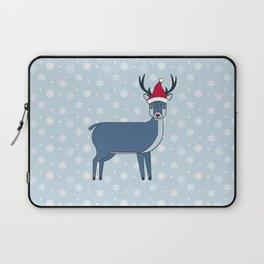 Snow Deer stole Santa's hat Laptop Sleeve