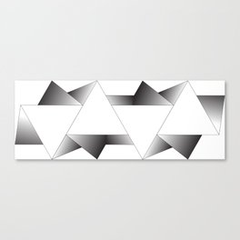 Triangulated Two Canvas Print