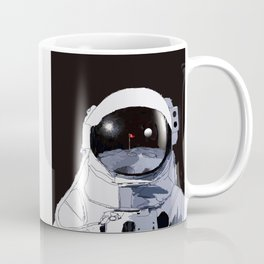 Astronaut Golf Course on the Moon Coffee Mug