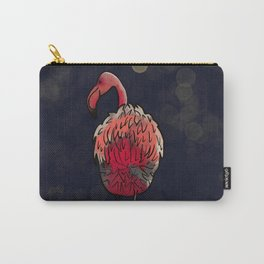 Flamingo In The Dark Carry-All Pouch