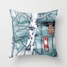 Bored monkey Throw Pillow