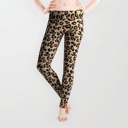 Leopard Print, Black, Brown, Rust and Tan Leggings