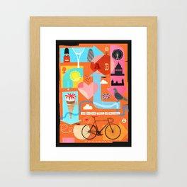 A - B Framed Art Print